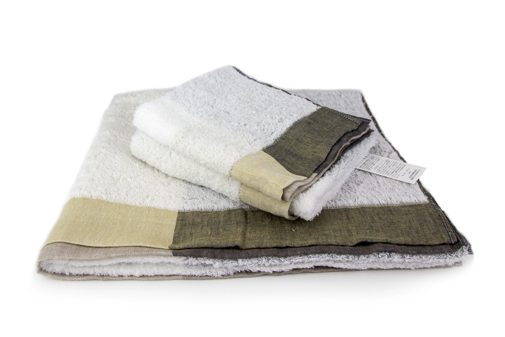 Palette Yellow Brown Towels